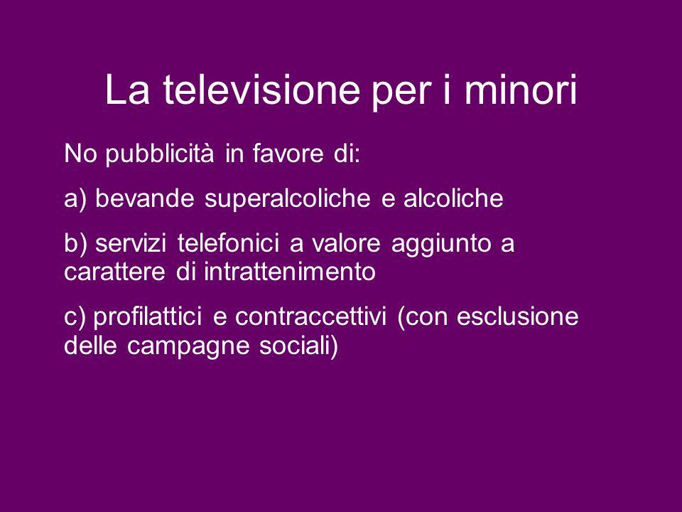 La televisione per i minori