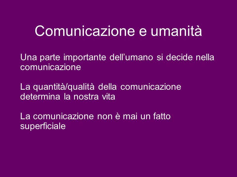 Comunicazione e umanità