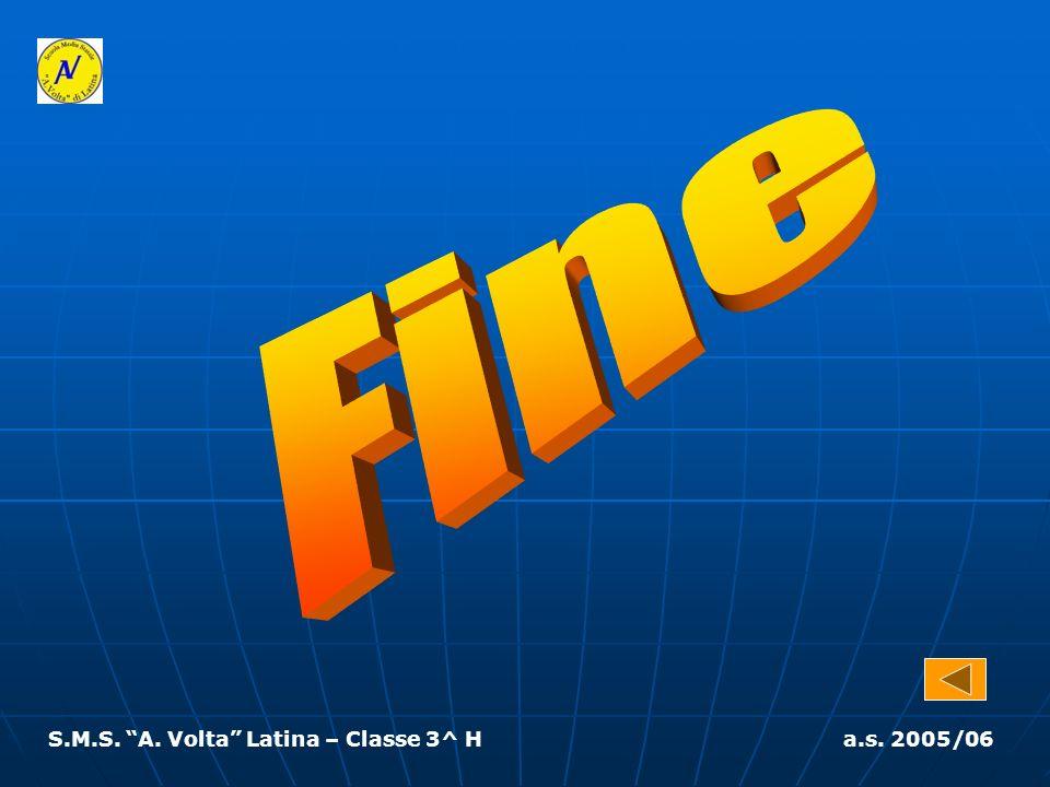 Fine S.M.S. A. Volta Latina – Classe 3^ H a.s. 2005/06
