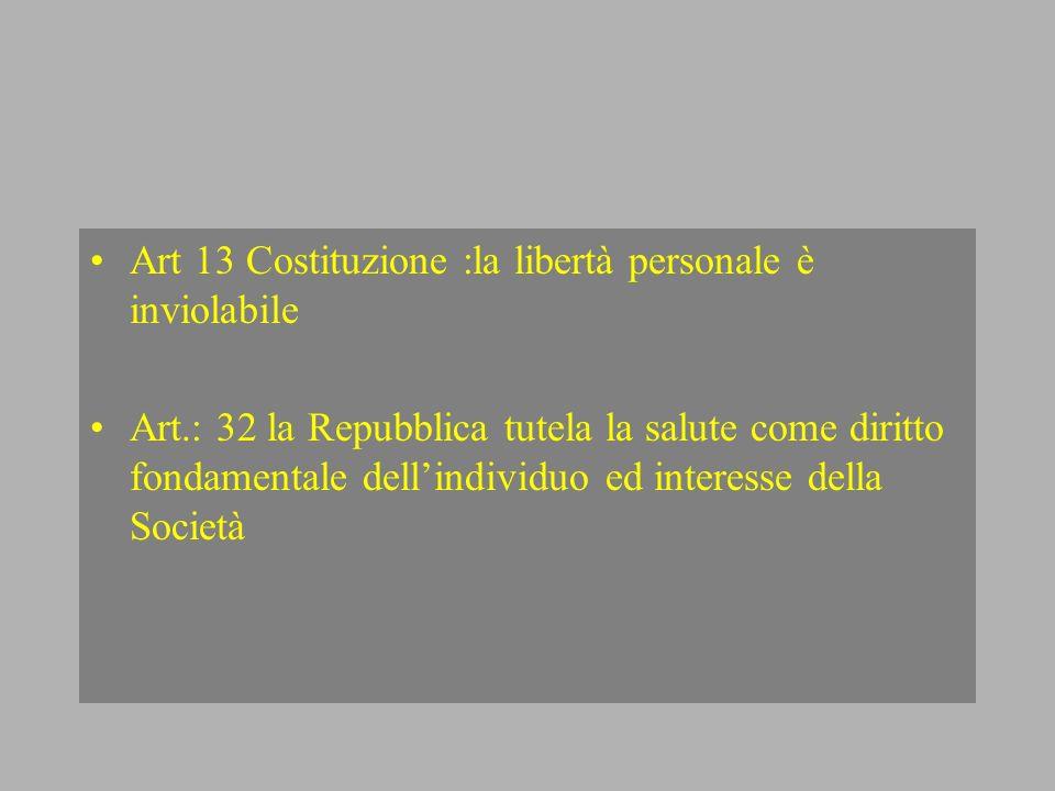 Art 13 Costituzione :la libertà personale è inviolabile
