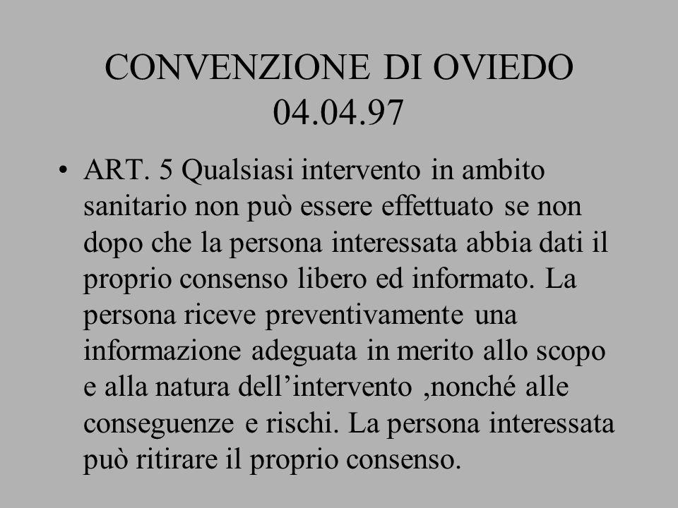 CONVENZIONE DI OVIEDO 04.04.97
