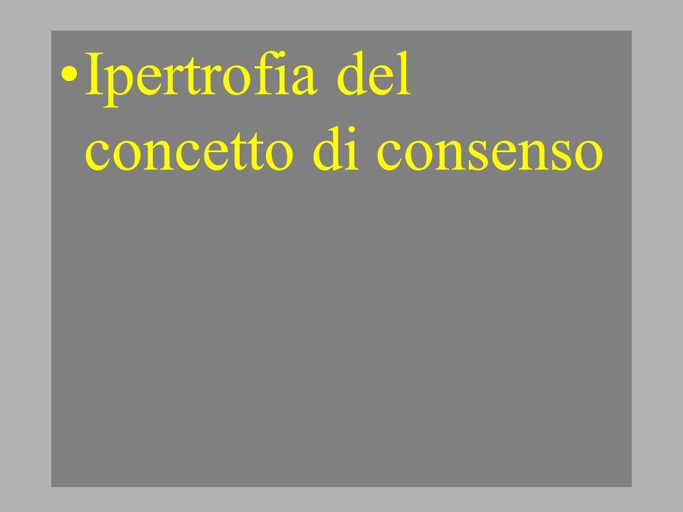 Ipertrofia del concetto di consenso