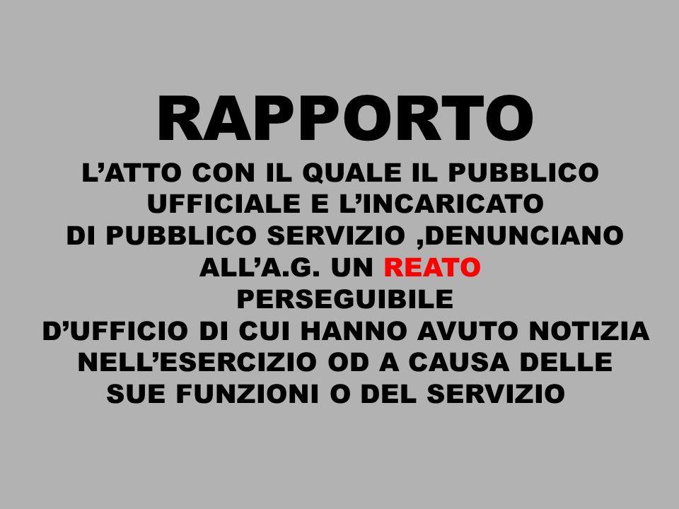 RAPPORTO L'ATTO CON IL QUALE IL PUBBLICO UFFICIALE E L'INCARICATO