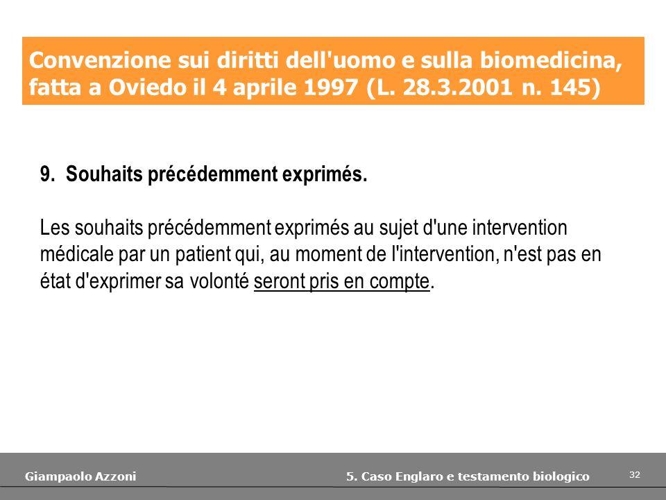 Convenzione sui diritti dell uomo e sulla biomedicina,
