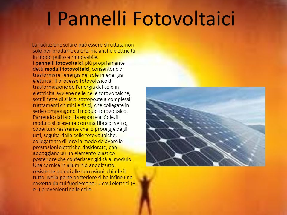 I Pannelli Fotovoltaici