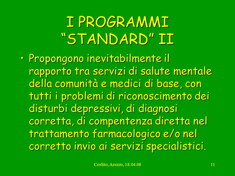 I PROGRAMMI STANDARD II