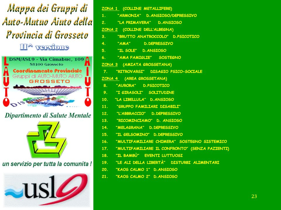 ZONA 1 (COLLINE METALLIFERE) ARMONIA D.ANSIOSO/DEPRESSIVO