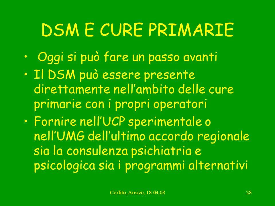 DSM E CURE PRIMARIE Oggi si può fare un passo avanti
