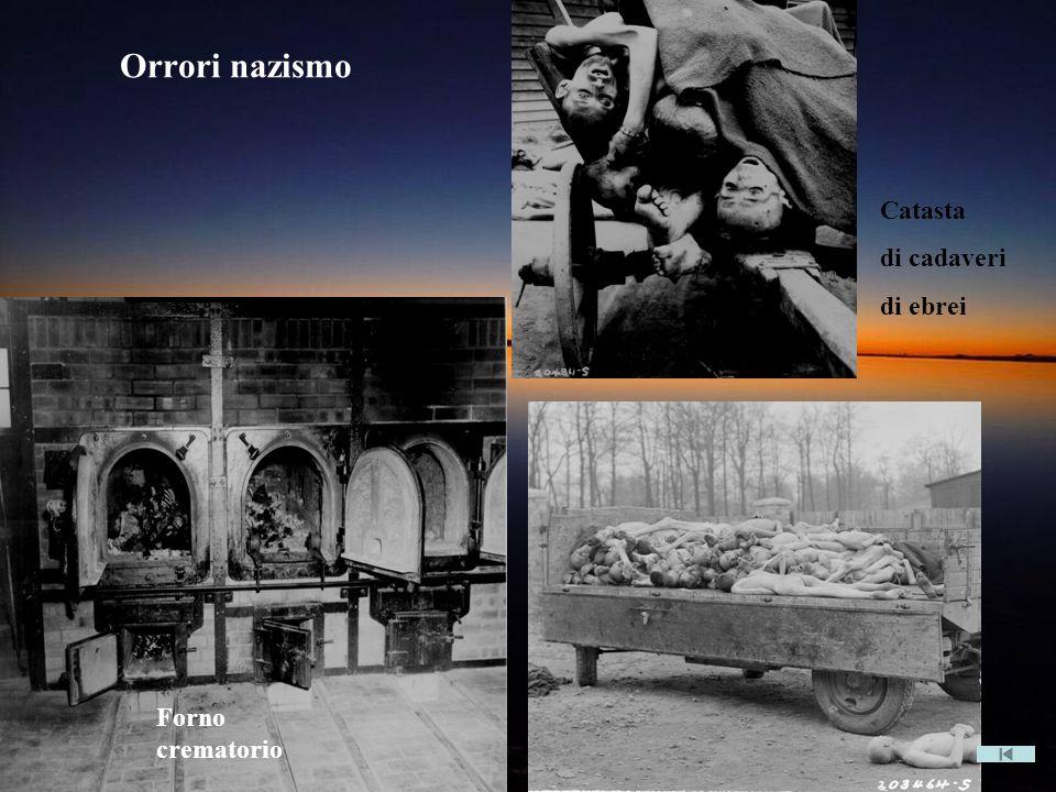 Orrori nazismo Catasta di cadaveri di ebrei Forno crematorio