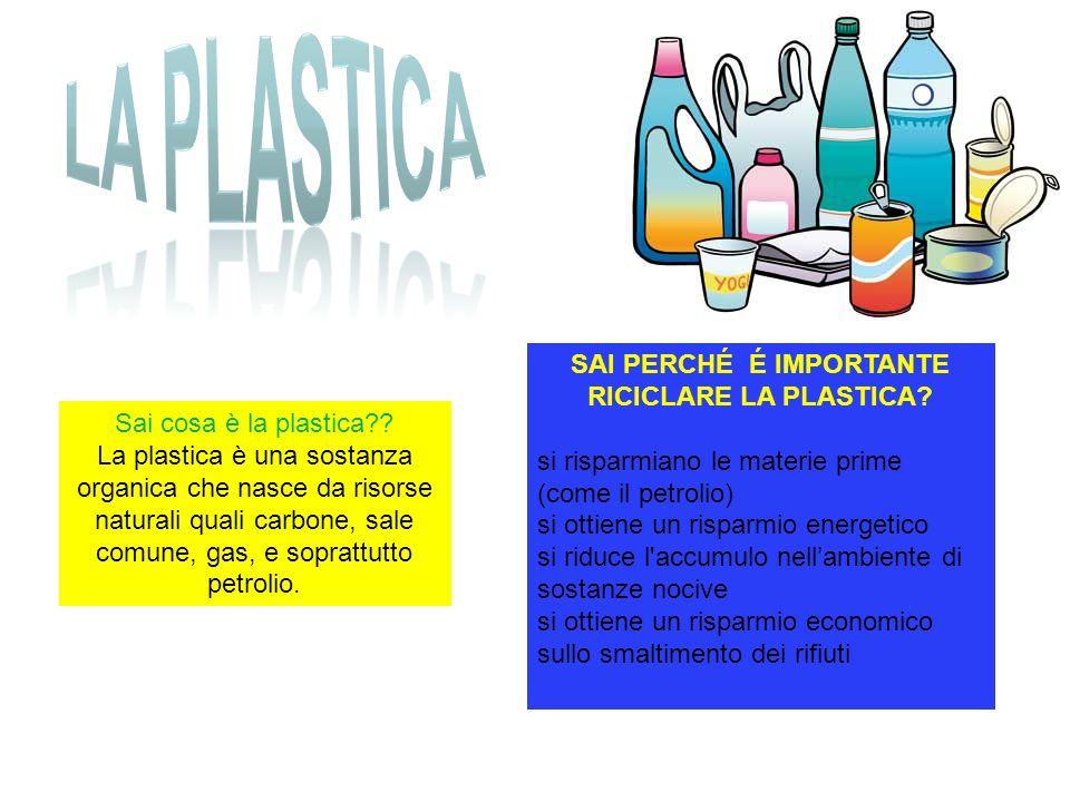 SAI PERCHÉ É IMPORTANTE RICICLARE LA PLASTICA
