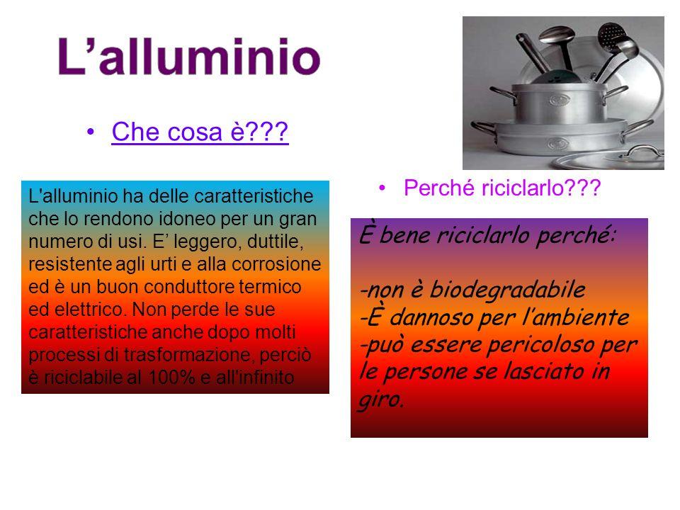 L'alluminio Che cosa è Perché riciclarlo