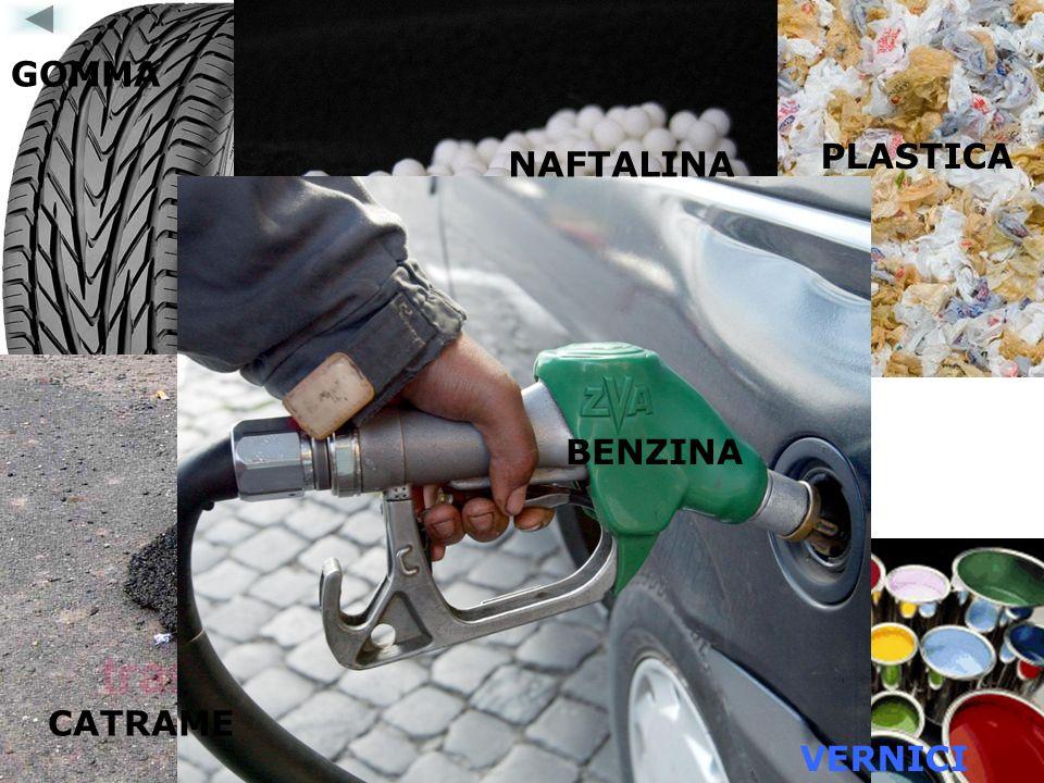 GOMMA PLASTICA NAFTALINA BENZINA CATRAME VERNICI
