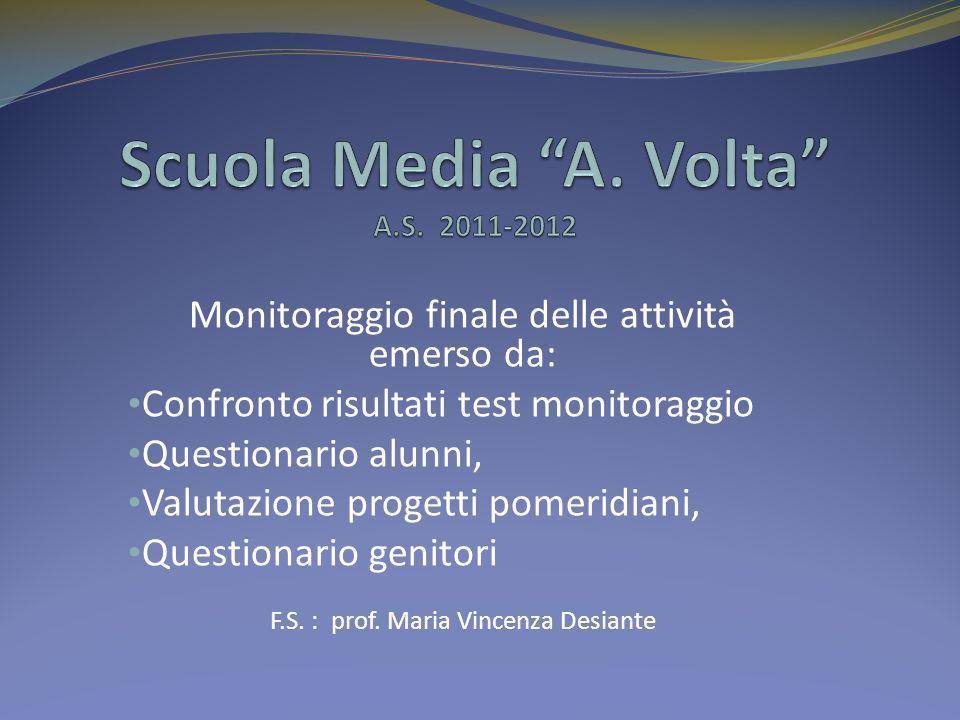 Scuola Media A. Volta A.S. 2011-2012