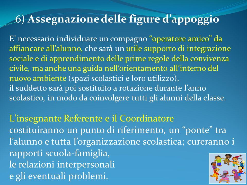 6) Assegnazione delle figure d'appoggio