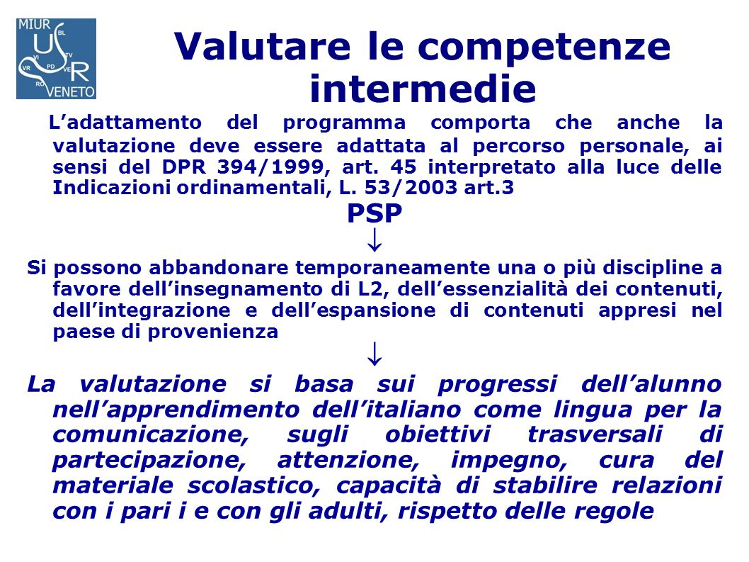 Valutare le competenze intermedie
