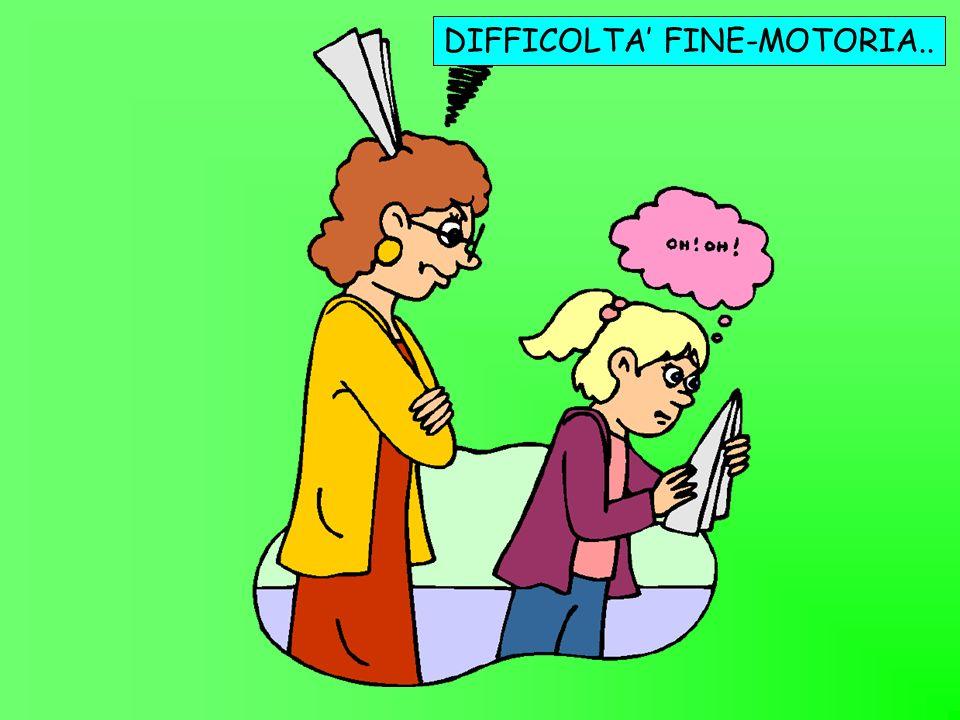 DIFFICOLTA' FINE-MOTORIA..