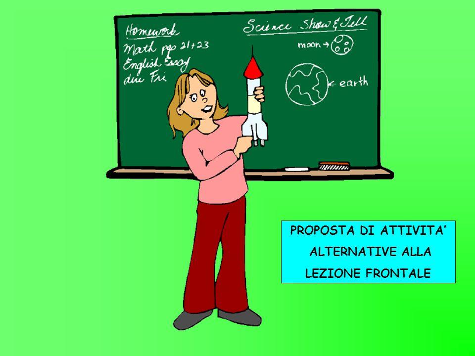 PROPOSTA DI ATTIVITA' ALTERNATIVE ALLA LEZIONE FRONTALE