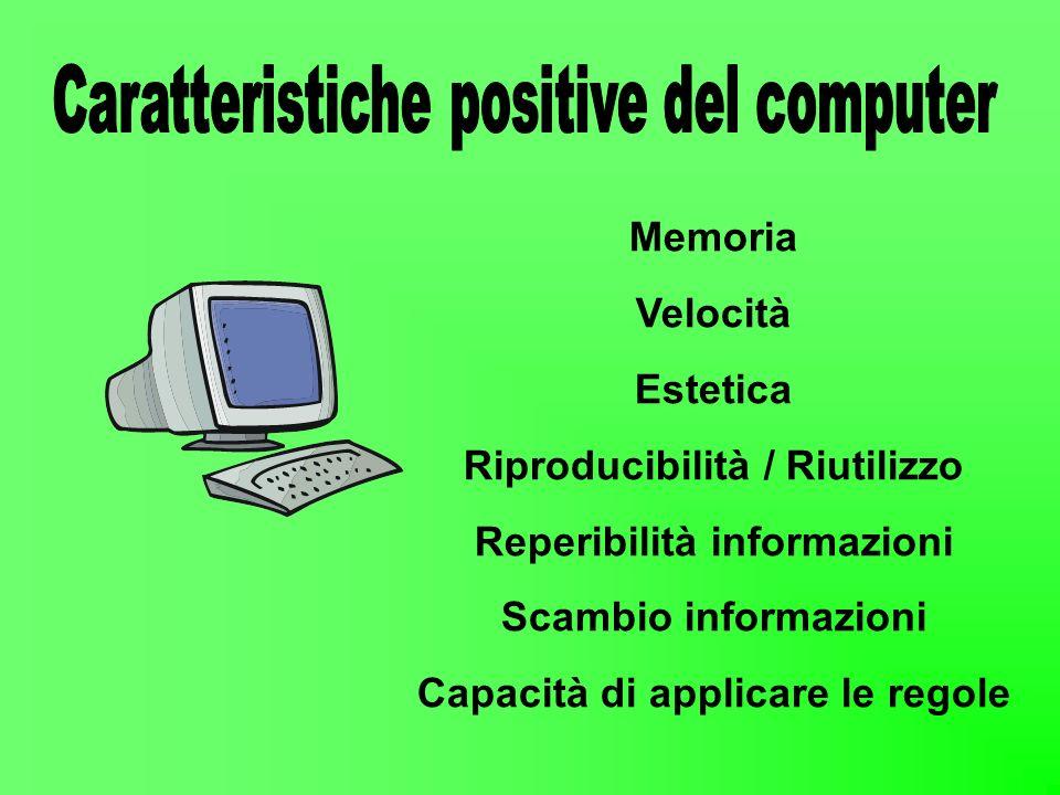 Caratteristiche positive del computer