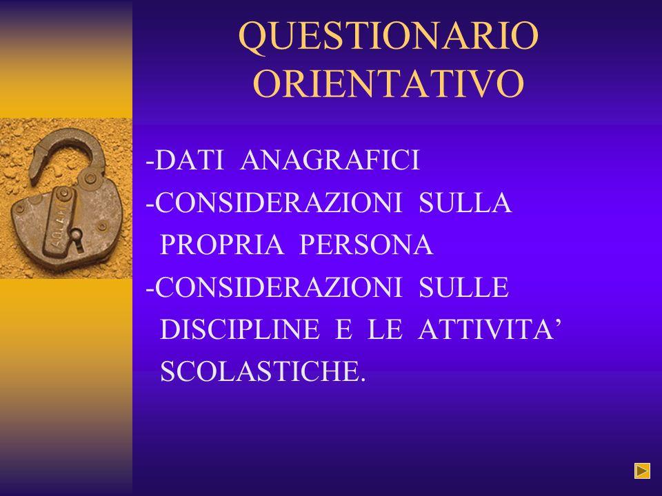 QUESTIONARIO ORIENTATIVO