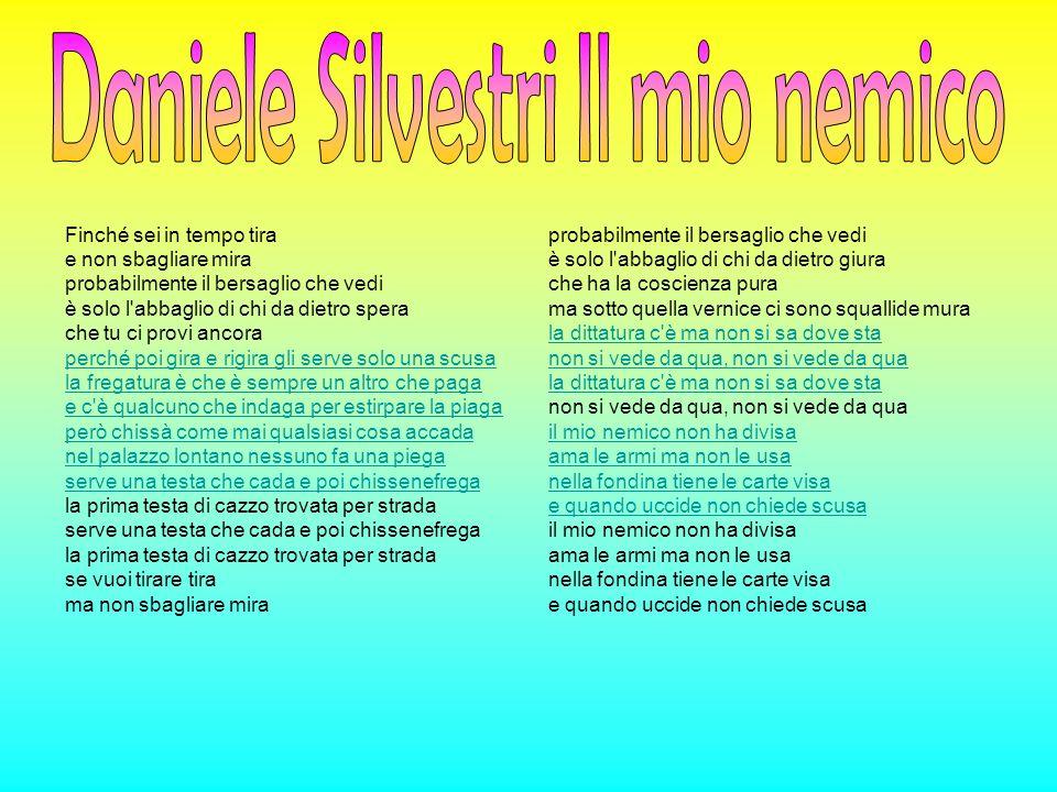 Daniele Silvestri Il mio nemico