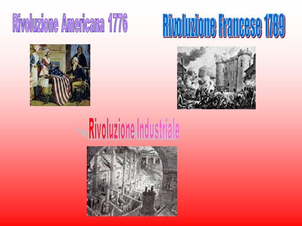 Rivoluzione Americana 1776 Rivoluzione Francese 1789