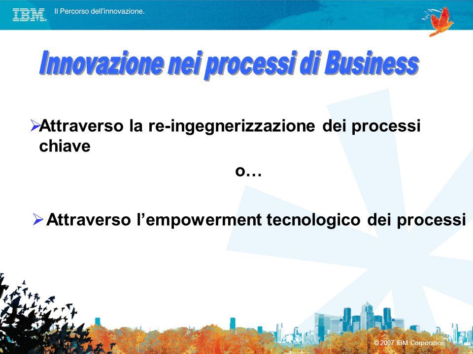 Attraverso l'empowerment tecnologico dei processi