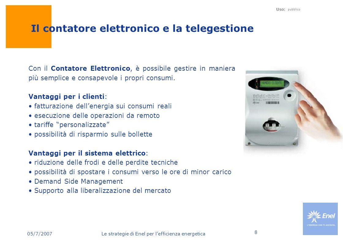 Il contatore elettronico e la telegestione