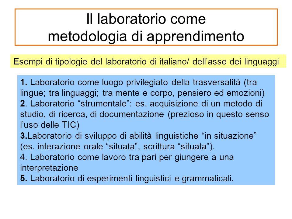 Il laboratorio come metodologia di apprendimento