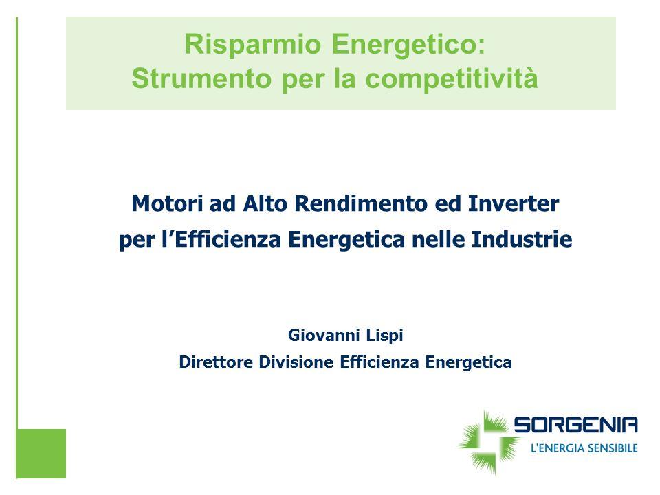 Risparmio Energetico: Strumento per la competitività