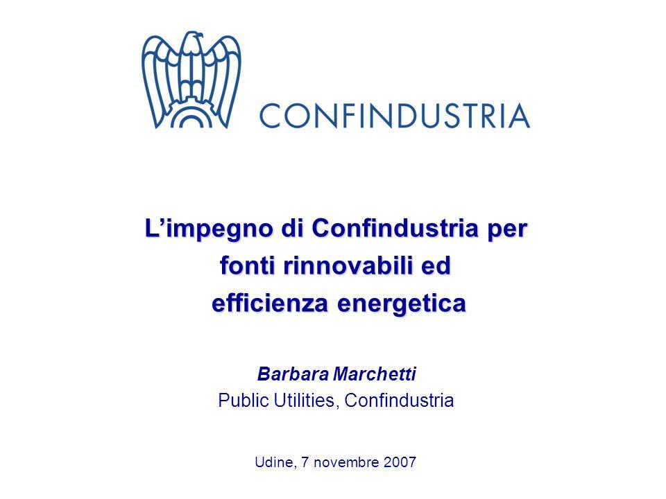 L'impegno di Confindustria per efficienza energetica