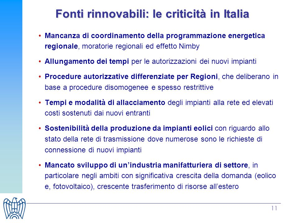 Fonti rinnovabili: le criticità in Italia