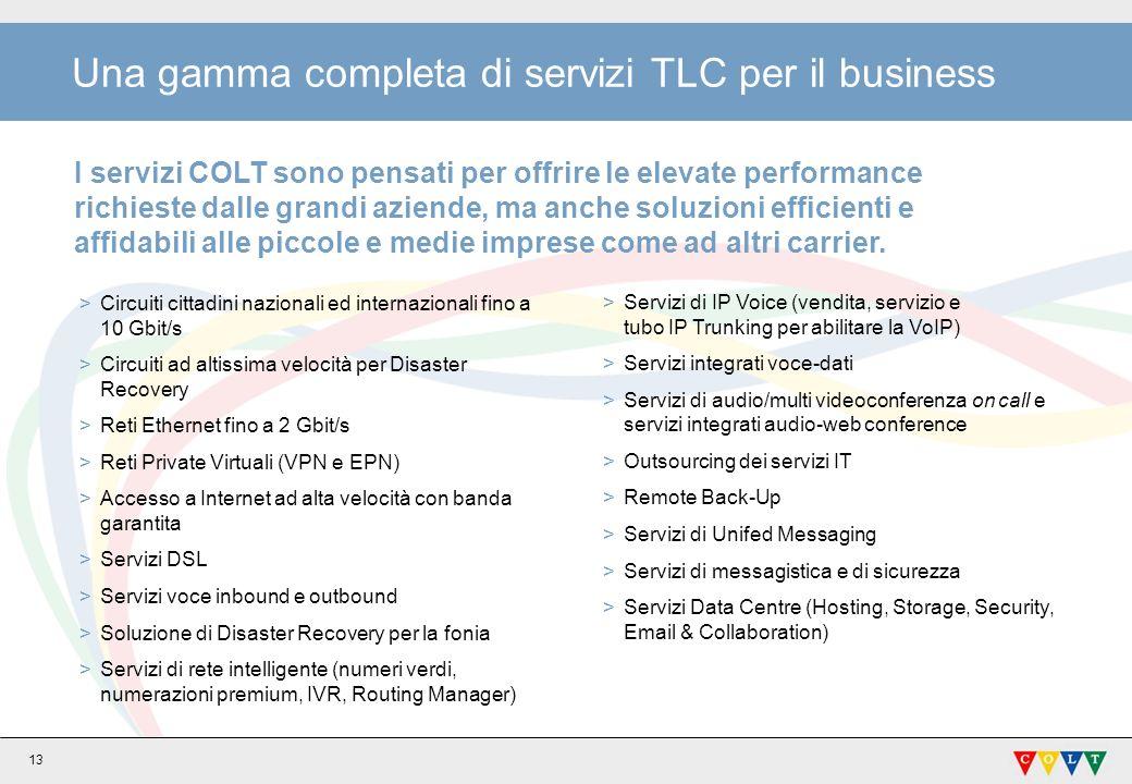 Una gamma completa di servizi TLC per il business