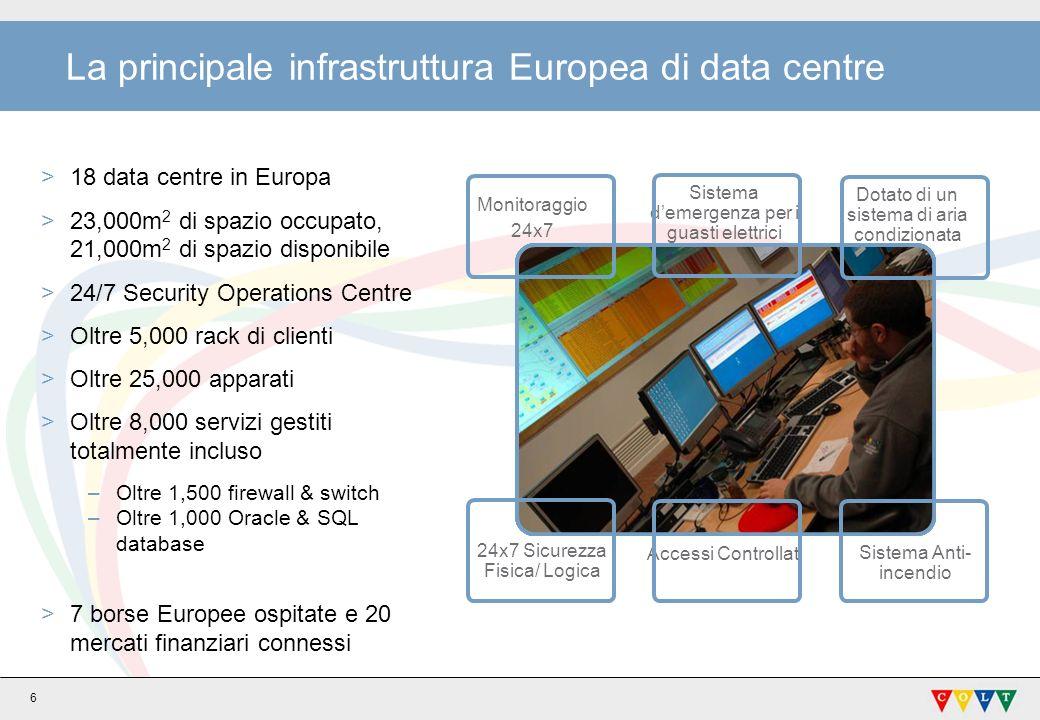 La principale infrastruttura Europea di data centre