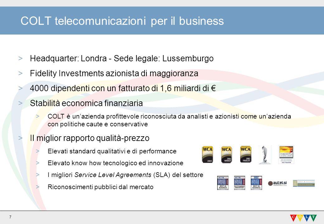 COLT telecomunicazioni per il business