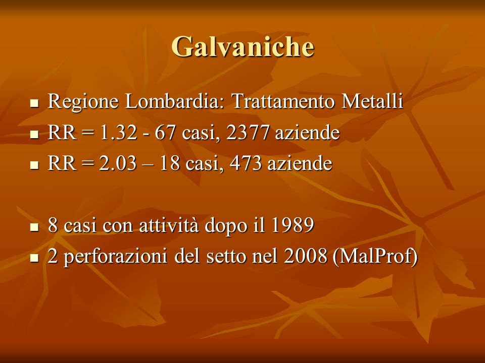 Galvaniche Regione Lombardia: Trattamento Metalli