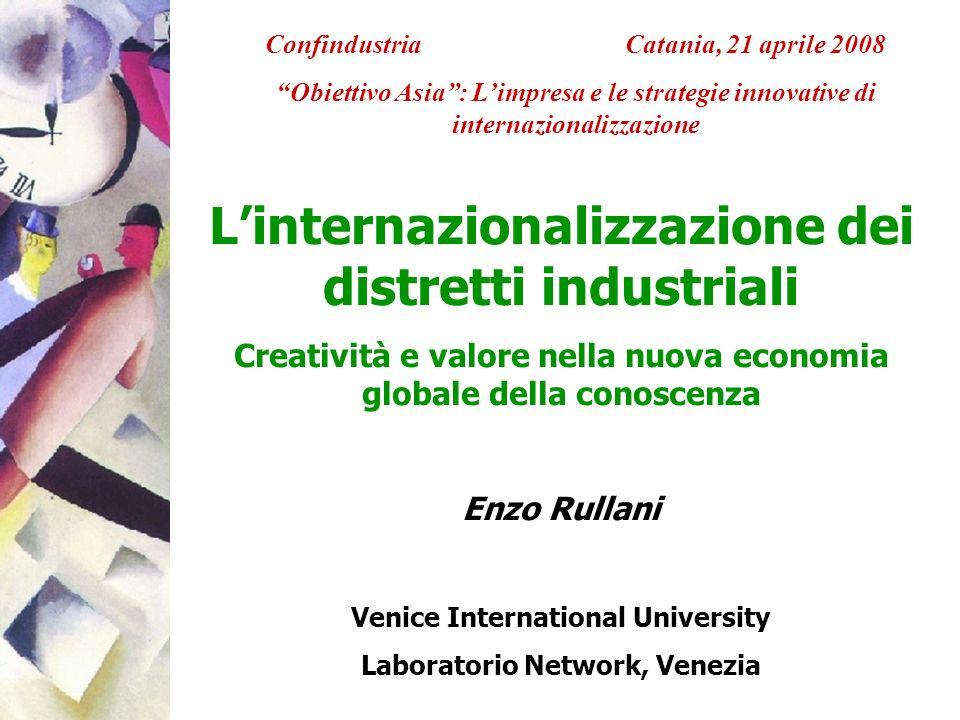 L'internazionalizzazione dei distretti industriali