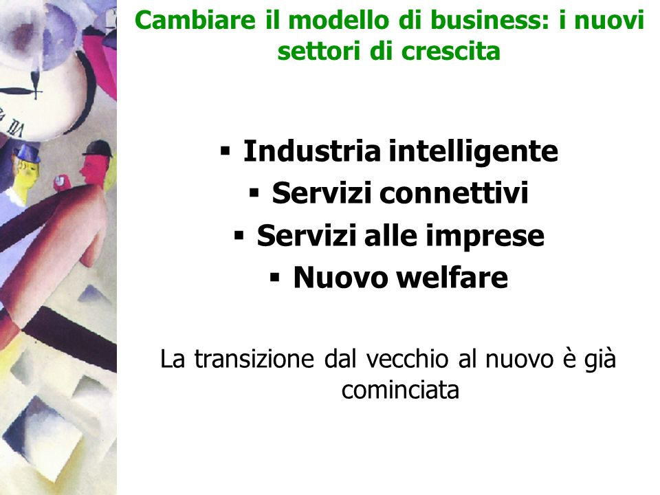 Industria intelligente Servizi connettivi Servizi alle imprese