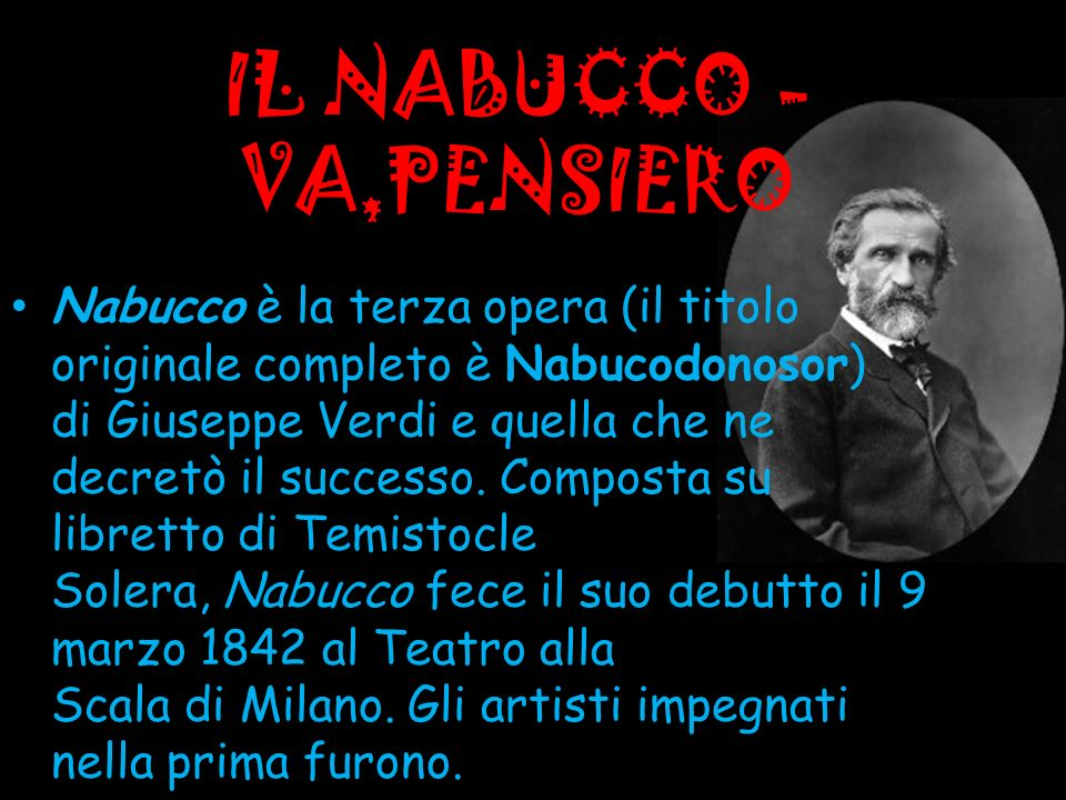 IL NABUCCO - VA,PENSIERO