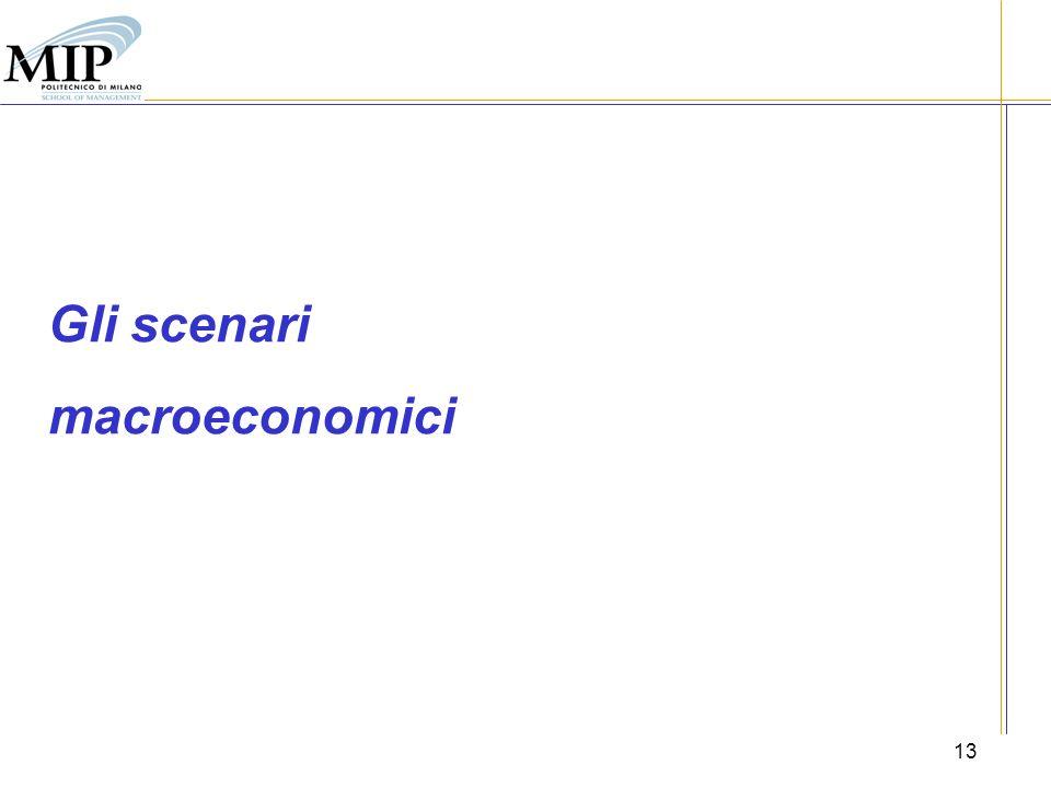 Gli scenari macroeconomici 13
