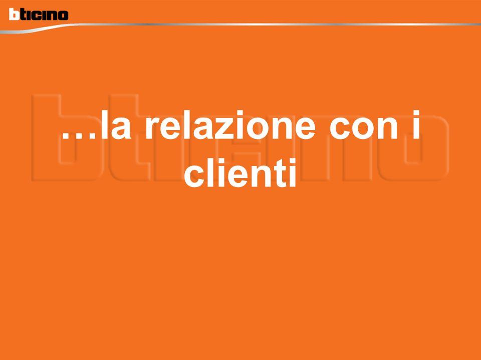 …la relazione con i clienti