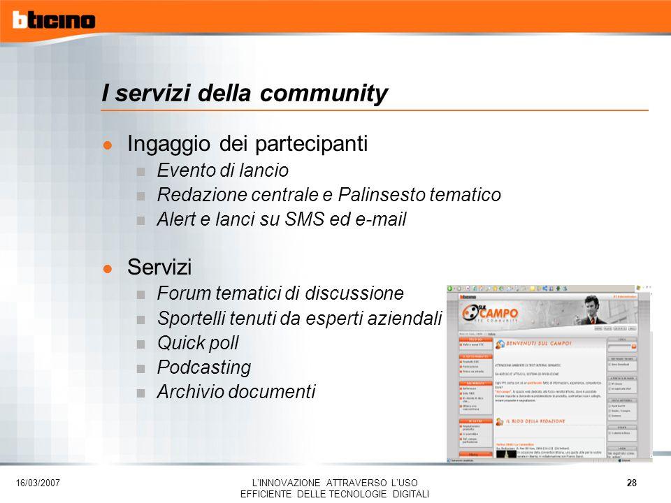 I servizi della community