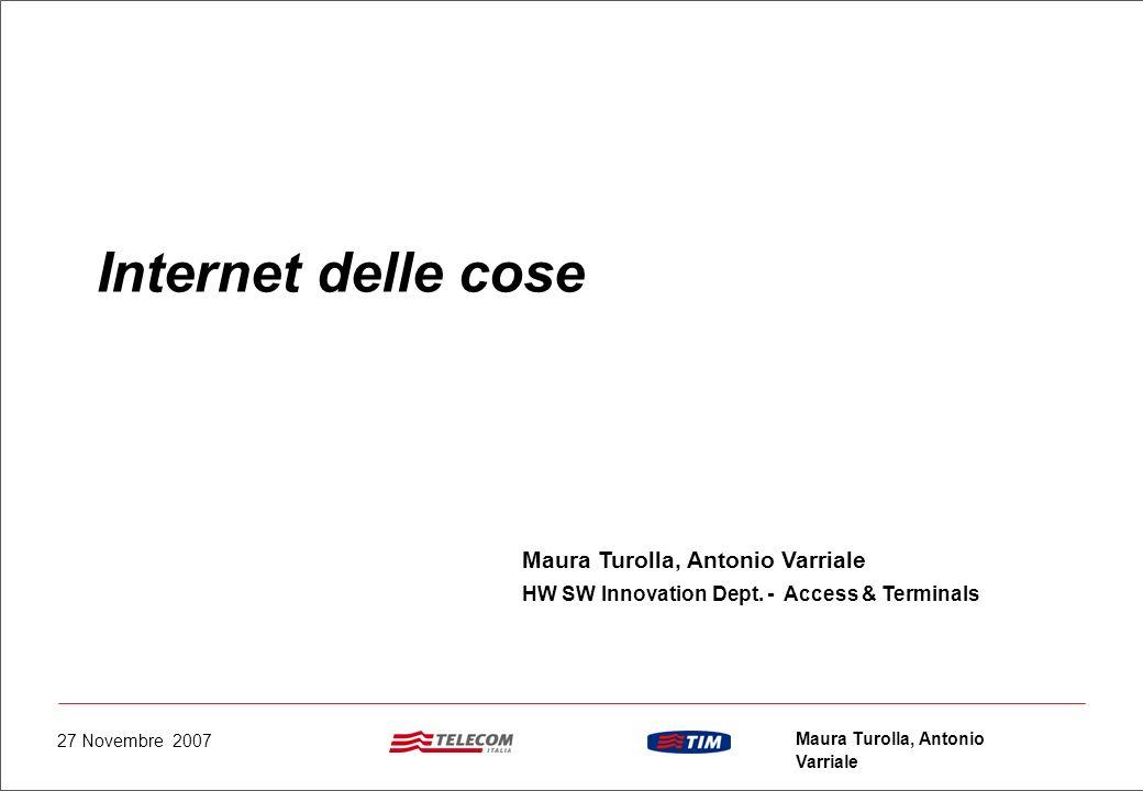 Internet delle cose Maura Turolla, Antonio Varriale
