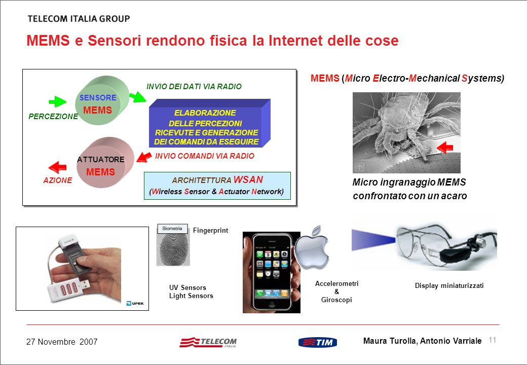 MEMS e Sensori rendono fisica la Internet delle cose