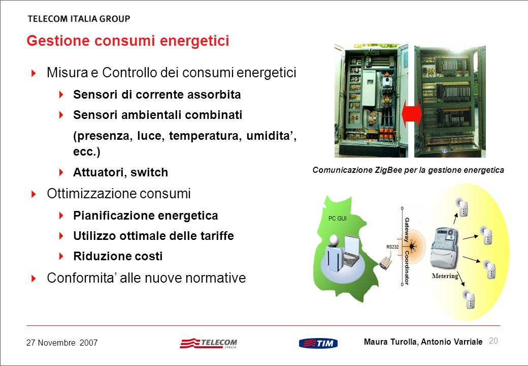 Gestione consumi energetici
