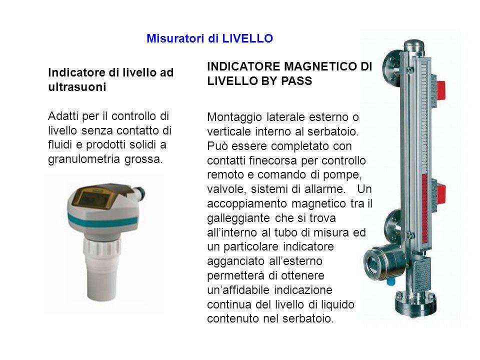 Misuratori di LIVELLO INDICATORE MAGNETICO DI LIVELLO BY PASS.