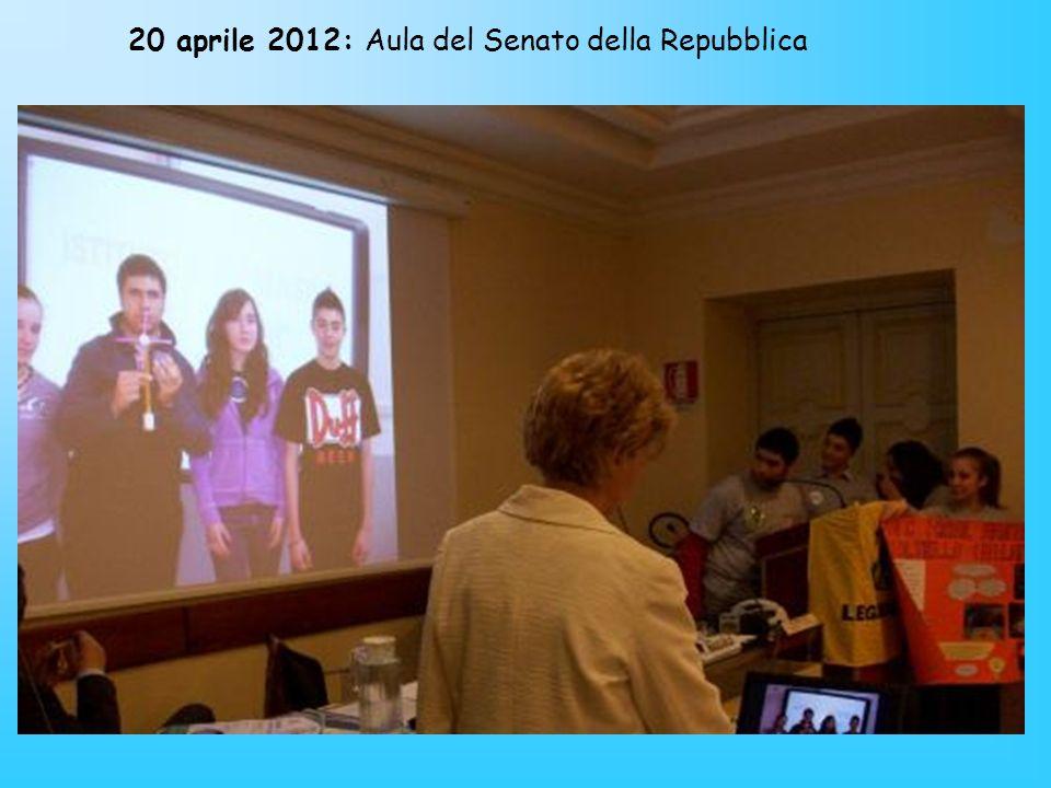 20 aprile 2012: Aula del Senato della Repubblica