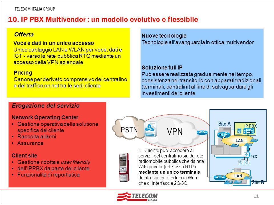 10. IP PBX Multivendor : un modello evolutivo e flessibile