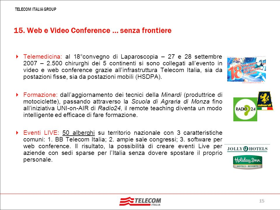 15. Web e Video Conference … senza frontiere
