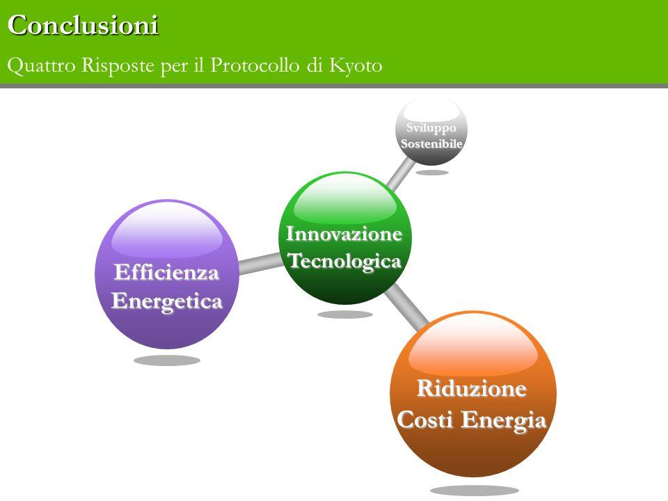 Conclusioni Quattro Risposte per il Protocollo di Kyoto