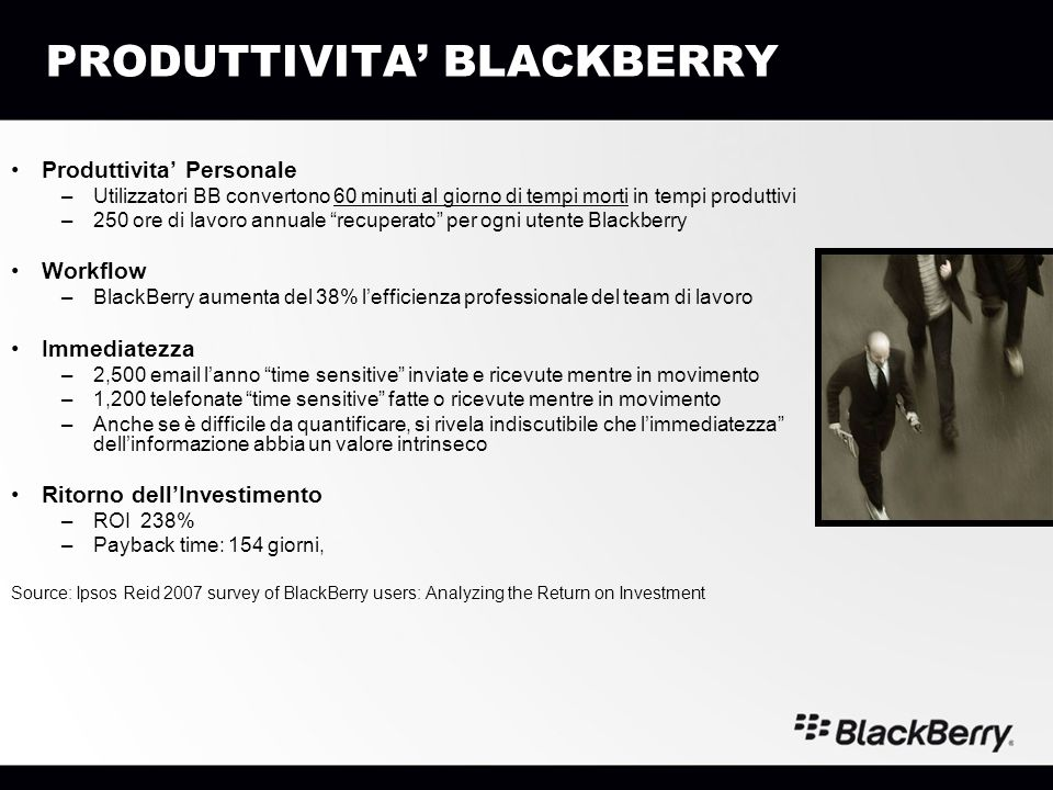 PRODUTTIVITA' BLACKBERRY